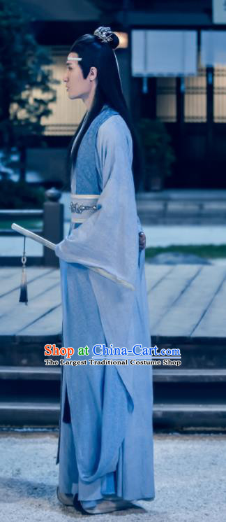 Drama The Untamed Chinese Ancient Swordsman Lan Xichen Blue Costumes for Men