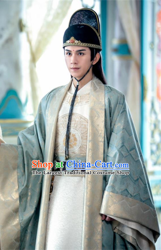 Drama The Untamed Chinese Ancient Prince Jin Guangyao Costumes and Hat for Men