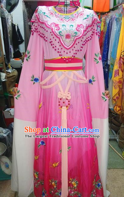 Chinese Traditional Beijing Opera Actress Costume Peking Opera Princess Rosy Dress for Adults