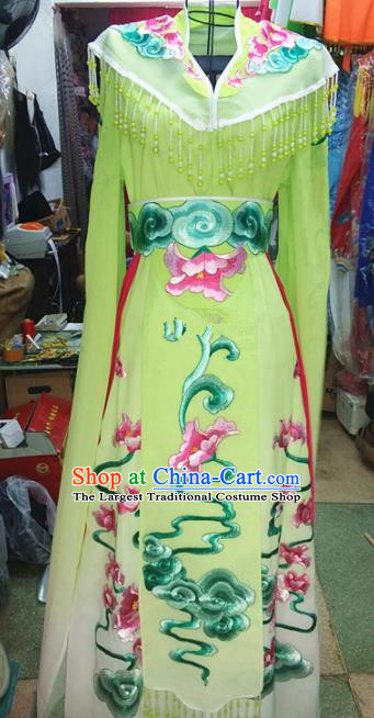Chinese Traditional Beijing Opera Princess Costume Peking Opera Actress Green Dress for Adults