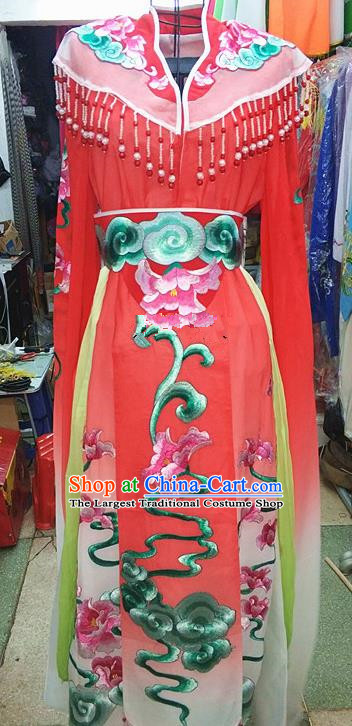Chinese Traditional Beijing Opera Princess Costume Peking Opera Actress Red Dress for Adults