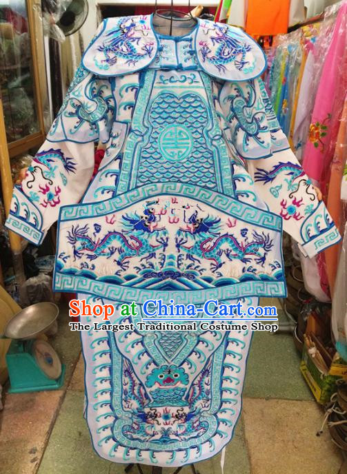 Chinese Traditional Beijing Opera Children Costume Peking Opera General White Clothing for Kids