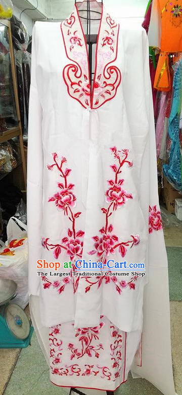 Chinese Traditional Beijing Opera Tsingyi Costume Peking Opera Actress Embroidered Red Peony Dress for Adults