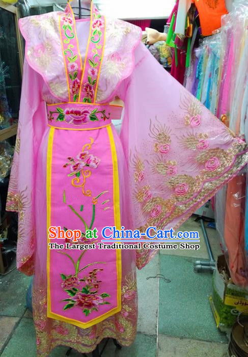 Chinese Traditional Beijing Opera Actress Pink Dress Peking Opera Empress Costume for Adults