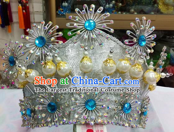 Chinese Traditional Beijing Opera Magic Warriors Helmet Head Ornaments Hair Accessories for Adults