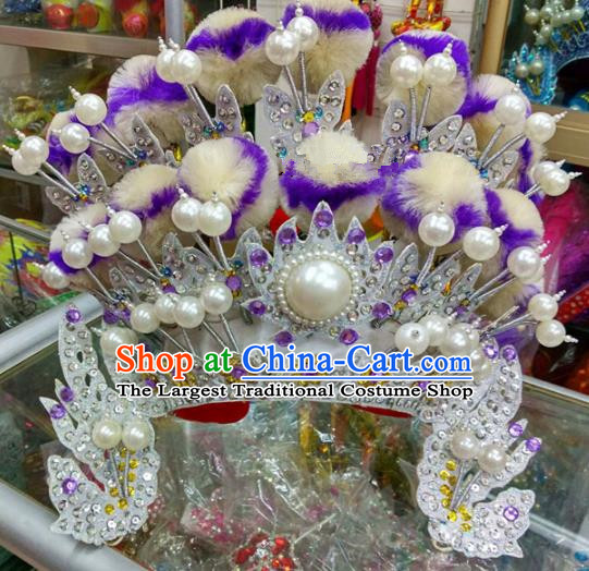 Chinese Traditional Beijing Opera Magic Warriors Phoenix Coronet Head Ornaments Hat Hair Accessories for Adults