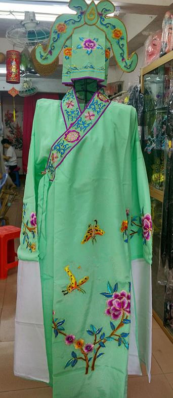 Chinese Traditional Beijing Opera Niche Costume Peking Opera Nobility Childe Green Robe for Adults