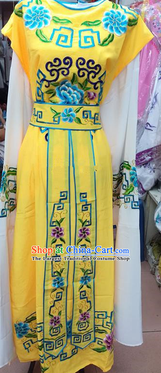 Chinese Traditional Beijing Opera Nobility Childe Costume Peking Opera Niche Yellow Robe for Adults