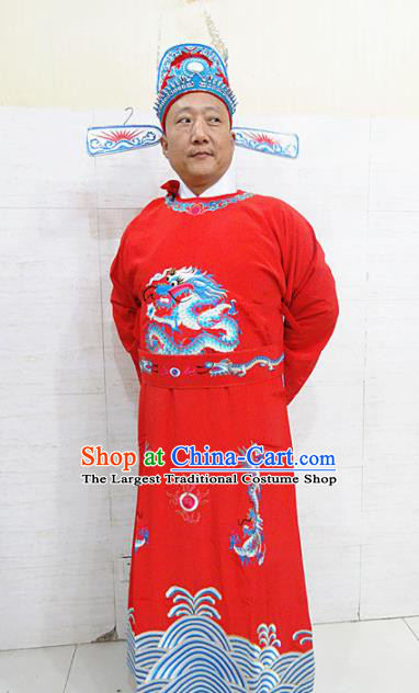 Chinese Traditional Beijing Opera Niche Robe Peking Opera Scholar Bridegroom Costume for Adults