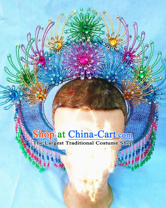 Chinese Traditional Beijing Opera Fisher Maiden Hat Hair Accessories for Adults