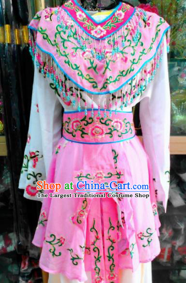 Chinese Traditional Beijing Opera Peri Pink Dress Peking Opera Young Lady Costume for Adults