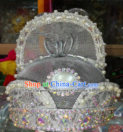 Chinese Traditional Beijing Opera Emperor Hat Peking Opera Headwear for Adults