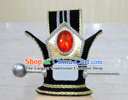 Chinese Traditional Beijing Opera Hair Accessories Ancient Prince Hairdo Crown Headwear for Adults