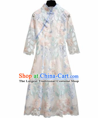 Chinese Traditional National Costume Tang Suit Qipao Dress Cheongsam for Women