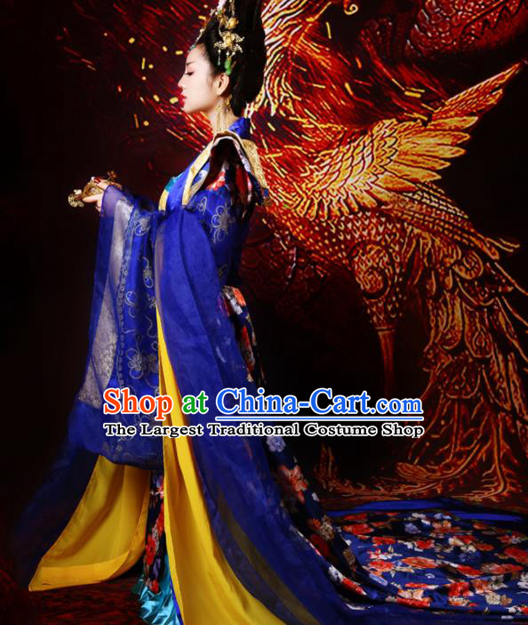 Chinese Ancient Tang Dynasty Palace Historical Costumes Traditional Imperial Concubine Hanfu Dress for Women