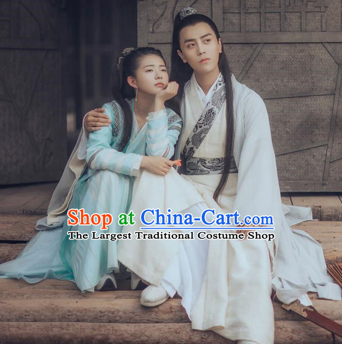 Chinese Ancient Swordsman and Swordswoman Historical Costumes Complete Set