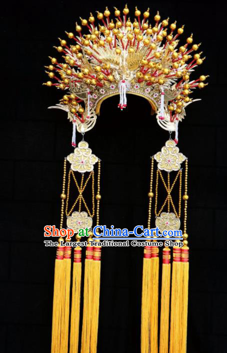 Chinese Traditional Beijing Opera Diva Hair Accessories Peking Opera Queen Golden Phoenix Coronet