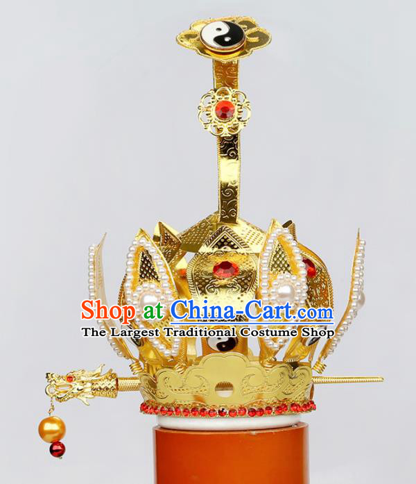 Chinese Traditional Religious Hair Accessories Feng Shui Taoism Prince Hairdo Crown
