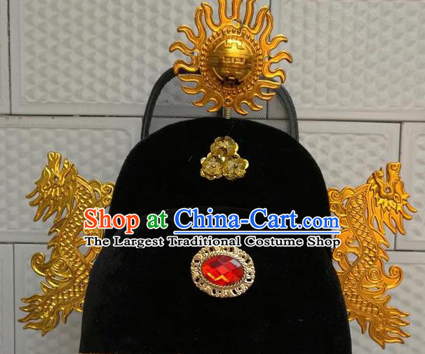 Chinese Traditional Beijing Opera Niche Headwear Ancient Prince Black Hat