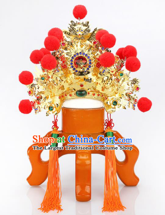 Chinese Traditional Religious Hair Accessories Feng Shui Taoism God Head Coronet