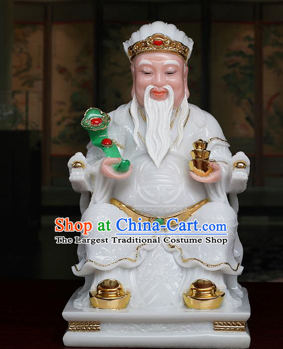 Chinese Traditional Religious Supplies White Gnome Statue Taoism Accessories
