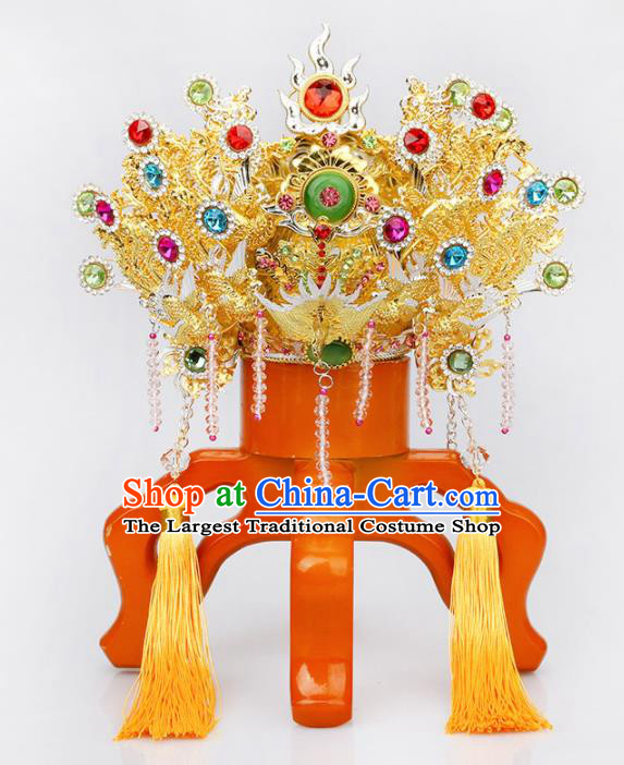 Chinese Traditional Religious Hair Accessories Taoism Phoenix Coronet Feng Shui Heavenly Queen Hat