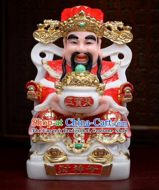 Chinese Traditional Religious Supplies Feng Shui Red Clothing Taoism Fortune God Decoration
