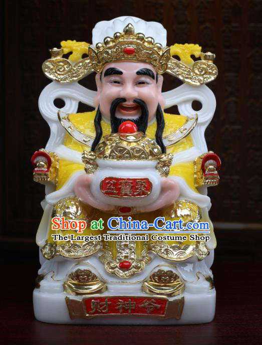 Chinese Traditional Religious Supplies Feng Shui Yellow Clothing Taoism Fortune God Decoration