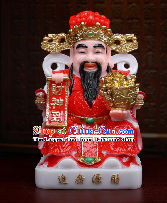Chinese Traditional Religious Supplies Feng Shui Red Clothing Taoism Wealth God Decoration