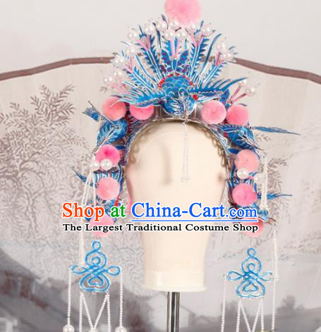 Chinese Traditional Beijing Opera Imperial Consort Phoenix Coronet Hair Accessories Ancient Kun Opera Headwear