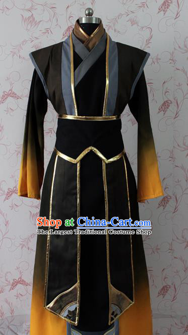 Chinese Ancient Swordsman Costume Traditional Cosplay Young Knight Clothing for Men