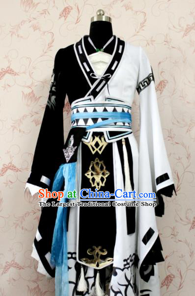 Chinese Ancient Female Swordsman Costume Traditional Cosplay Heroine Dress for Women