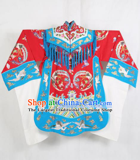 Traditional Chinese Beijing Opera Costume Peking Opera Imperial Concubine Red Embroidered Robe