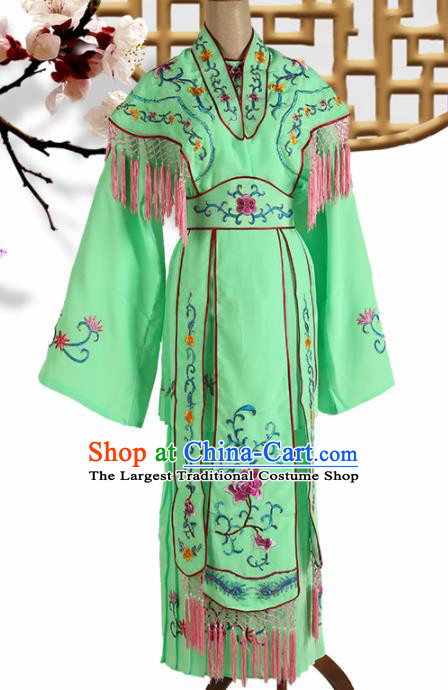 Traditional Chinese Beijing Opera Peri Costume Peking Opera Princess Green Dress