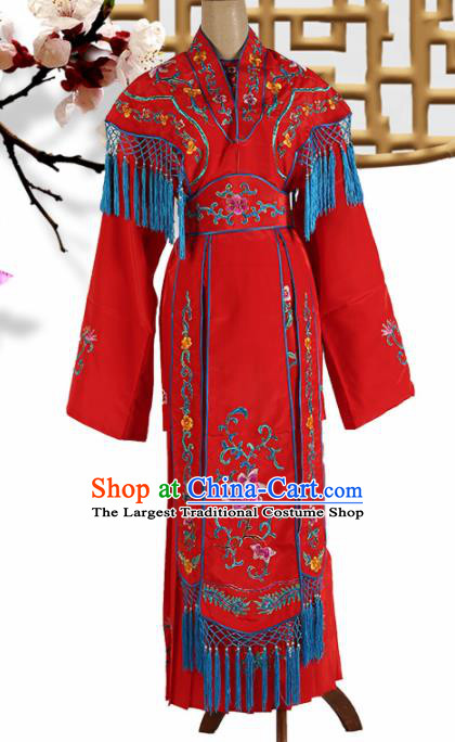 Traditional Chinese Beijing Opera Peri Costume Peking Opera Princess Red Dress