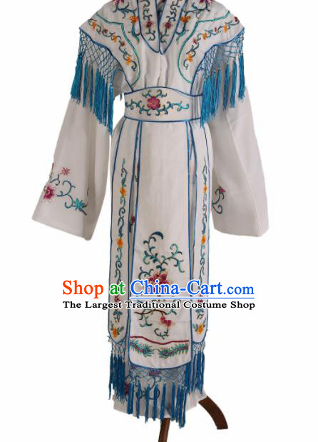 Traditional Chinese Beijing Opera Peri Costume Peking Opera Princess White Dress