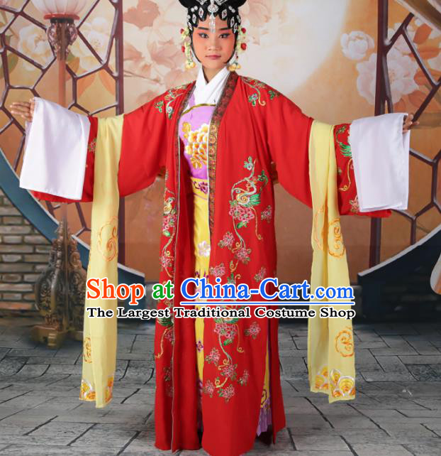 Traditional Chinese Beijing Opera Empress Costume Peking Opera Queen Red Dress