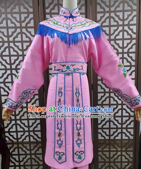 Traditional Chinese Beijing Opera Actress Costume Peking Opera Maidservants Pink Dress