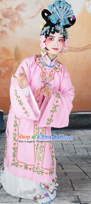 Traditional Chinese Beijing Opera Diva Costume Peking Opera Nobility Lady Pink Dress