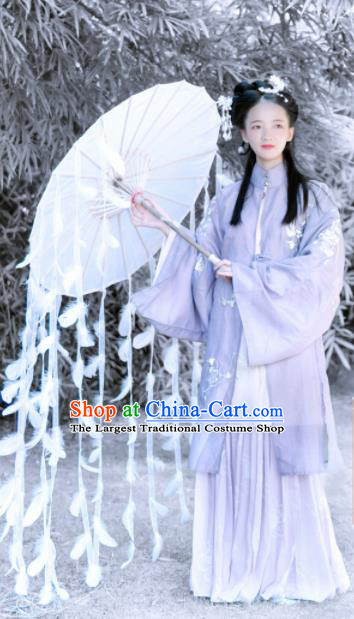Traditional Chinese Ming Dynasty Historical Costume Ancient Nobility Lady Hanfu Dress for Women