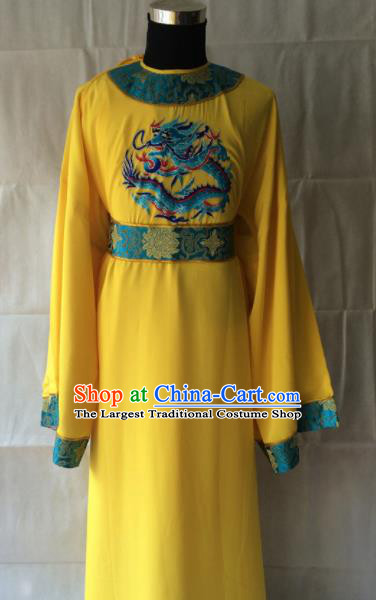 Traditional Chinese Beijing Opera Costume Peking Opera Eunuch Yellow Robe