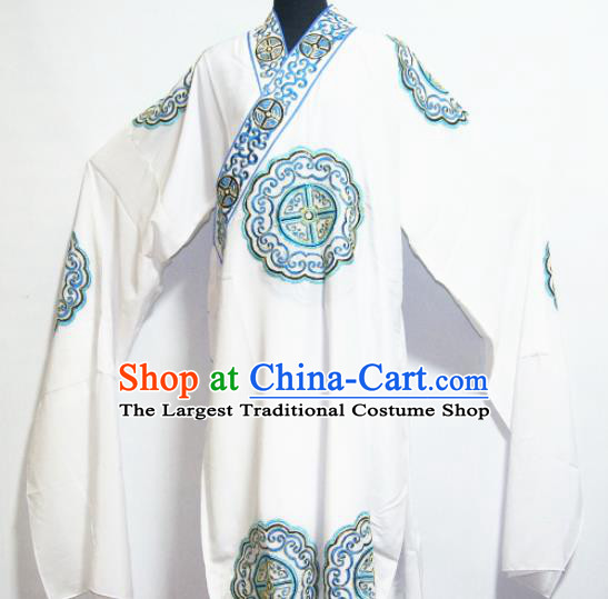 Traditional Chinese Beijing Opera Niche Costume Ancient Nobility Childe White Robe