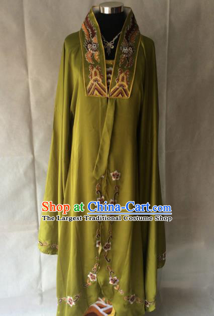 Traditional Chinese Beijing Opera Imperial Concubine Costume Ancient Peri Green Dress for Women