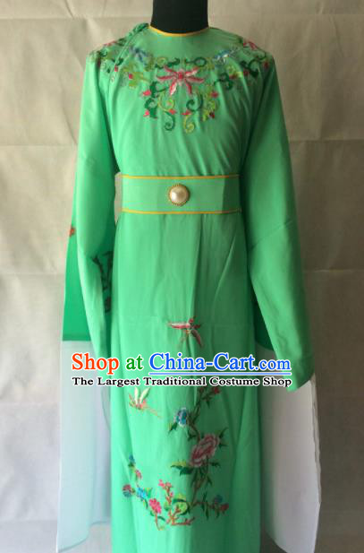 Traditional Chinese Beijing Opera Costume Peking Opera Niche Green Robe