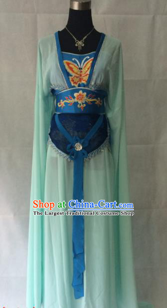 Traditional Chinese Beijing Opera Princess Costume Ancient Peri Blue Dress for Women