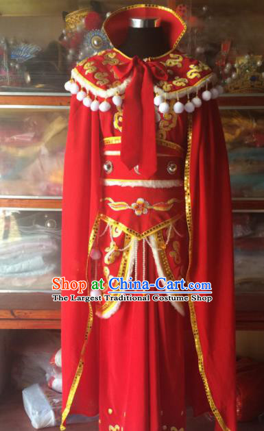 Traditional Chinese Beijing Opera Diva Costume Ancient Imperial Concubine Red Dress for Women