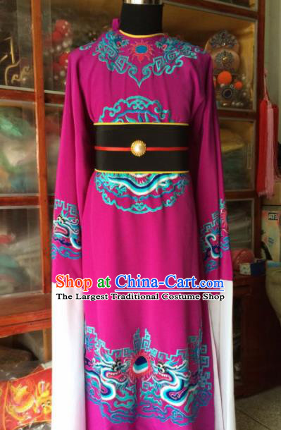 Traditional Chinese Beijing Opera Costume Peking Opera Eunuch Rosy Robe
