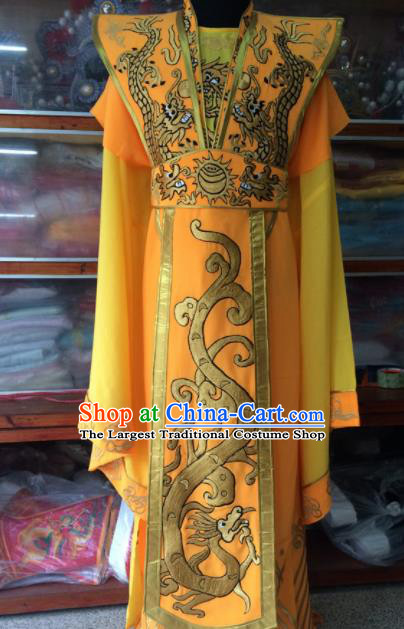Traditional Chinese Beijing Opera Emperor Costume Peking Opera Imperator Yellow Clothing