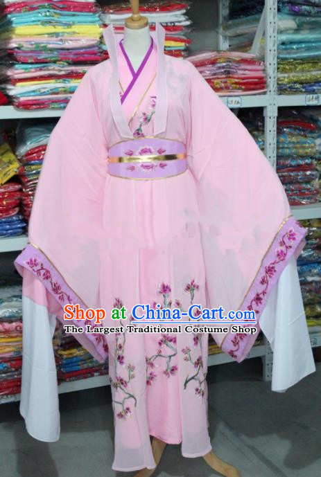 Traditional Chinese Beijing Opera Actress Costume Ancient Princess Pink Dress for Women