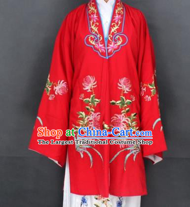 Traditional Chinese Beijing Opera Actress Costume Ancient Nobility Lady Red Dress for Women